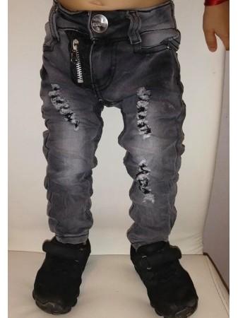Jeans ZIP 18026 Noir BéBé Garçon 6 mois A 6 ans