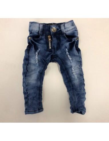 Jeans ZIP 18026 BLEU BéBé Garçon 6 mois A 6 ans