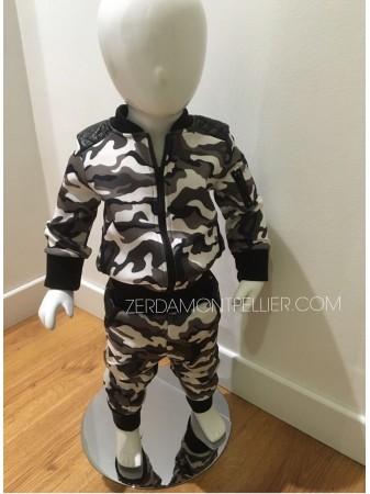 Ensemble Army Blanc Baby
