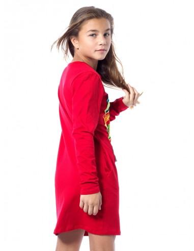Robe Image M/L ROUGE Fille 4 à 14 ans
