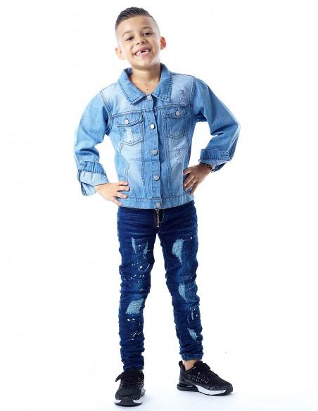 Blouson jeans bleu clair Garçon 4 à 14ans