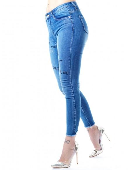 Jeans skinny 33094 BLEU Femme