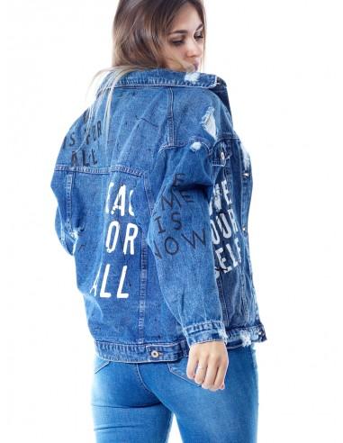 Veste Jeans 33910 BLEU Femme