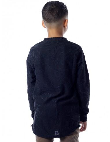 T-shirt M/L G03 NOIR Garçon 4 à 14 ans
