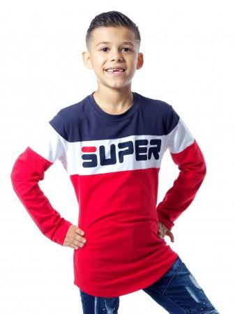 T-shirt bicolore P61 ROUGE Garçon 4 à 14 ans