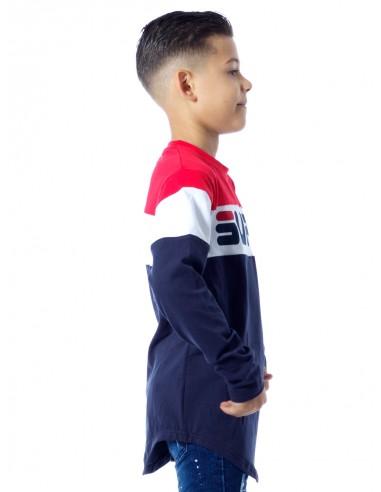 T-shirt bicolore P61 BLEU Garçon 4 à 14 ans