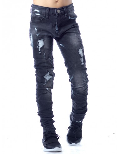 Jeans destroy SN826 NOIR Garçon 4 à 14 ans