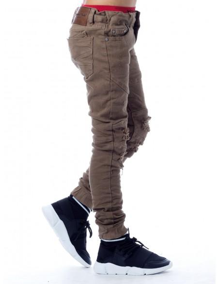 Jeans 63209 MARRON Garçon 4 à 14 ans