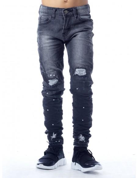 Jeans destroy SN824 Gris Garçon 4 à 14 ans