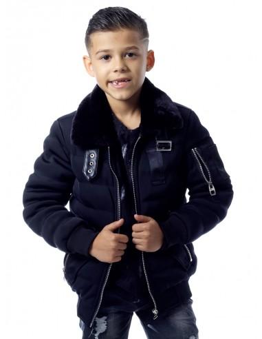 Blouson YB1008 NOIR Garçon 4 à 14 ans