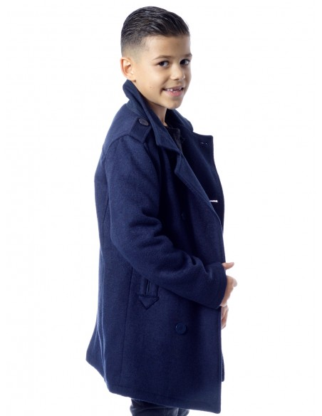 Manteau Guess N24L39 BLEU Garçon 4 à 14 ans