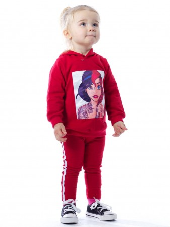 Ensemble image BF183 ROUGE Baby 6mois/4ans