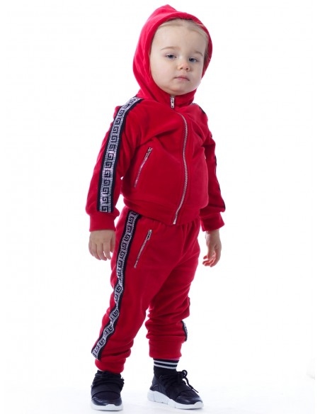 Jogging Strass BF188 ROUGE Baby 6mois/4ans