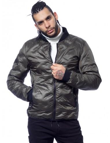 JOHN H - VESTE ZIPPÉE 916 KAKI Vestes-manteaux HAUTS -  ZERDA BOUTIQUE - Mode pas cher