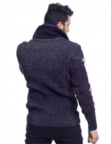 PULL GROSSE MAILLE GRIS