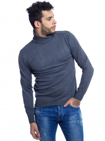 UNIPLAY - PULL COL ROULÉ CT003 GRIS