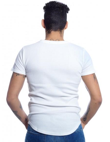 JOHN H - TEE SHIRT OVERSIZE A091 BLANC T-shirts-polos HAUTS -  ZERDA BOUTIQUE - Mode pas cher