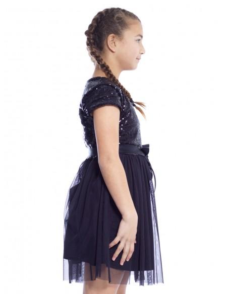 Robe Fête 8771 NOIRE Robes Fille du 2 au 14 ans -  ZERDA BOUTIQUE - Mode pas cher