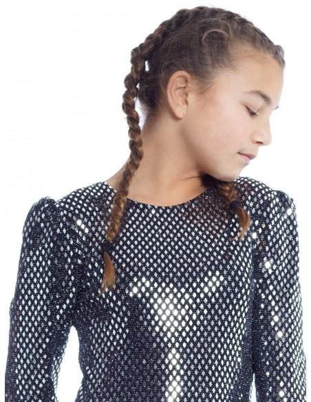 Robe Disco Fête NOIRE Robes Fille du 2 au 14 ans -  ZERDA BOUTIQUE - Mode pas cher