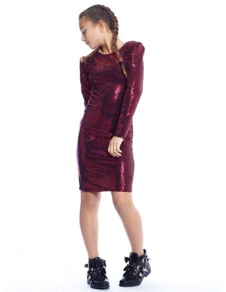 Robe Disco Fête ROUGE Robes Fille du 2 au 14 ans -  ZERDA BOUTIQUE - Mode pas cher