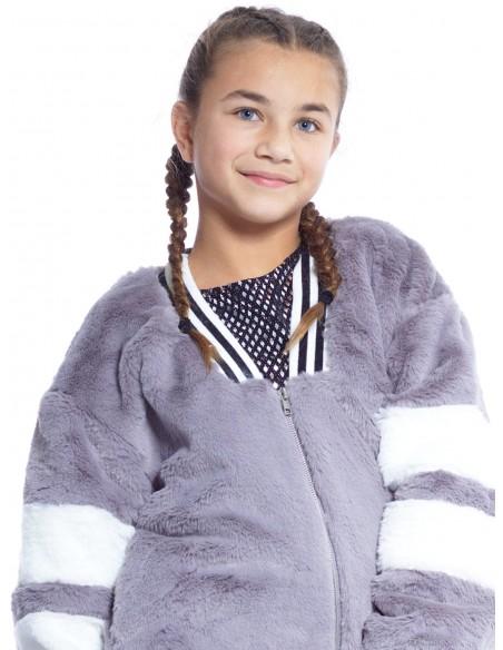 Blouson M015 GRIS Blousons Fille du 2 au 14 ans -  ZERDA BOUTIQUE - Mode pas cher