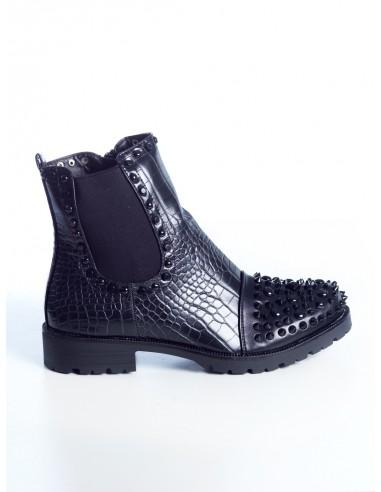 BOTTINES CLOUTÉES 15712 FEMME Bottines & Bottes Chaussures -  ZERDA BOUTIQUE - Mode pas cher