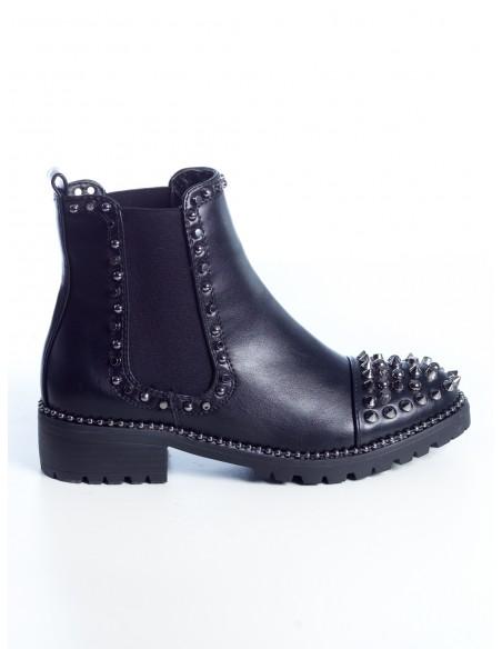 BOTTINES CLOUTÉES G7618 FEMME Bottines & Bottes Chaussures -  ZERDA BOUTIQUE - Mode pas cher