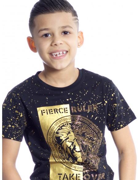 T-SHIRT P103 NOIR T-shirts Garçon du 2 au 14 ans -  ZERDA BOUTIQUE - Mode pas cher
