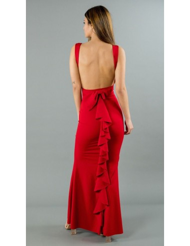 Robe Sirene Longue 9618 Rouge Dos Nu Femme Mode Fashion Zerda Boutique Mode Pas Cherfemme Mode