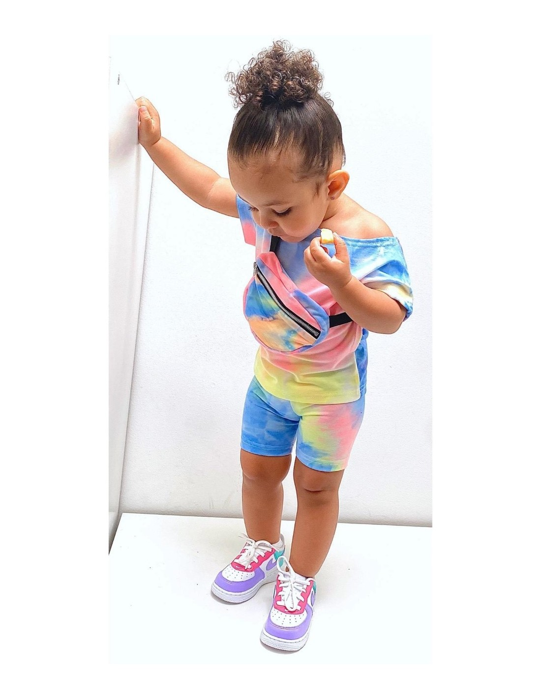 ENSEMBLE TOP SHORT 043 COLORS BÉBÉ FILLE 6 AU 36 MOIS fashion mode ZERDA BOUTIQUE mode pas cher