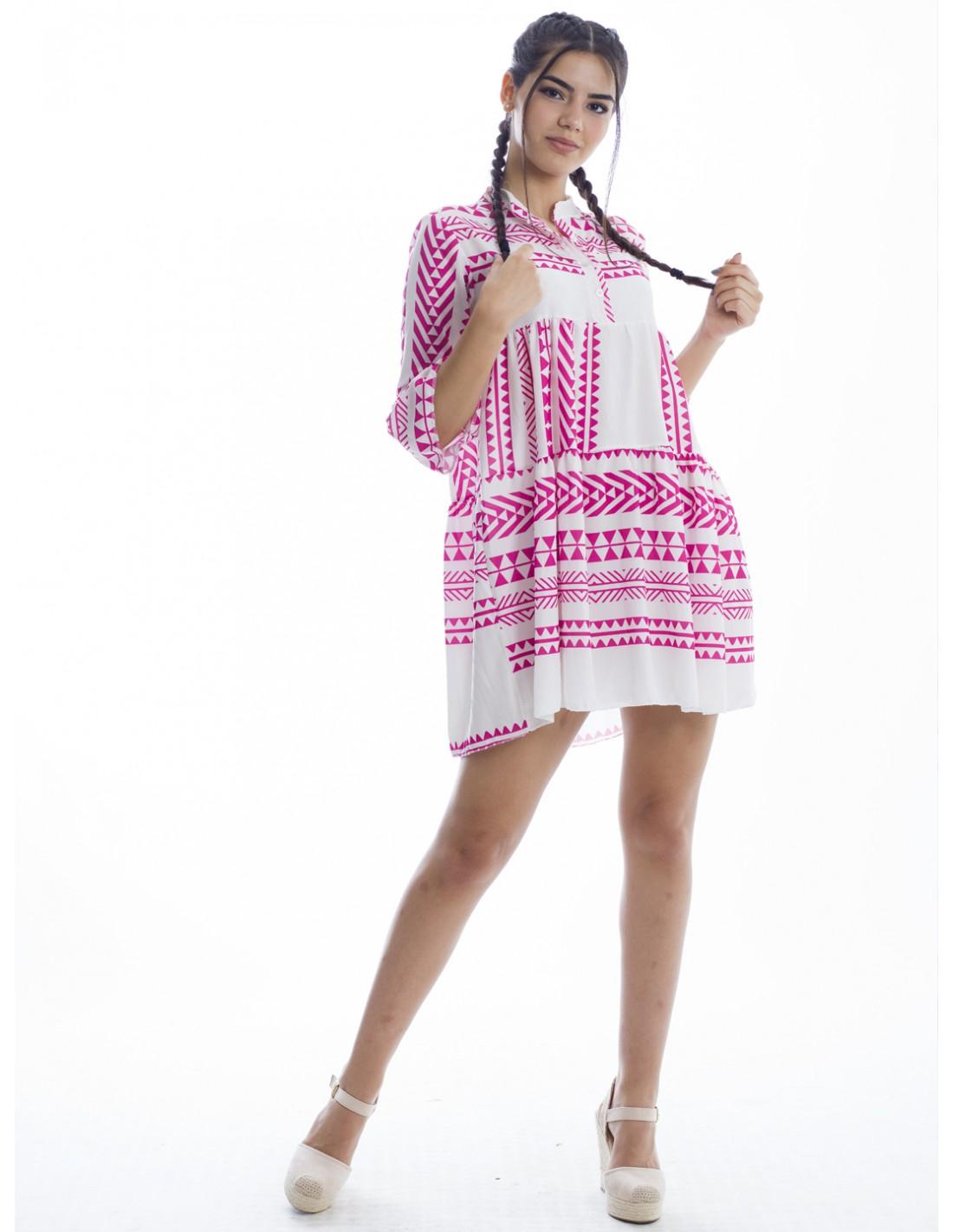 Robe Courte Fashion Vetements Zerda Boutique Mode Pas Cher