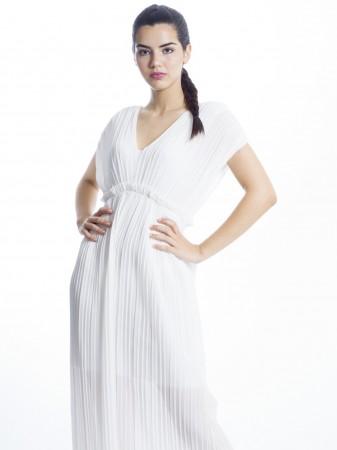 Robe Longue Plissee Fashion Vetements Zerda Boutique Mode Pas Cher