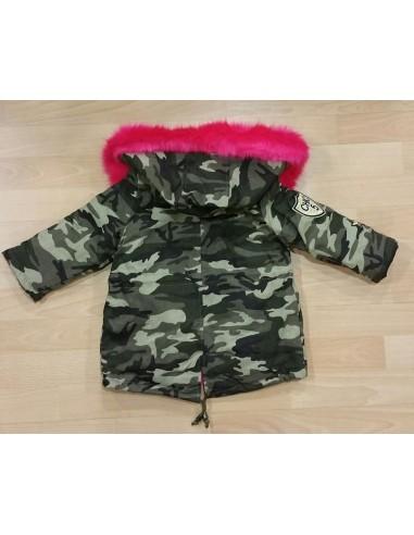 Parka Militaire Fourrure Fushia Baby
