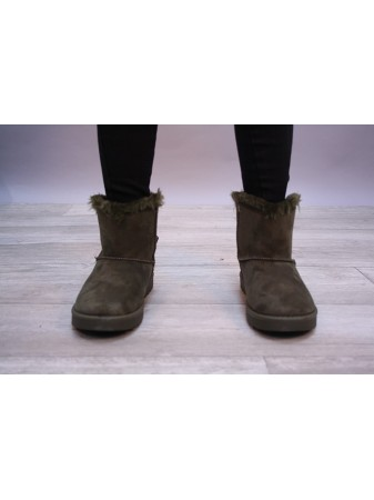 Bottine kaki