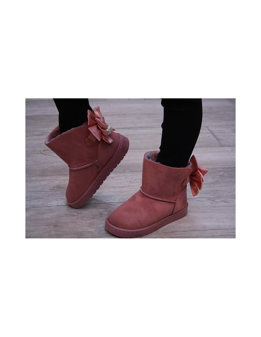 Cuddl Duds FILLES BOOT SOCK Soft plushfill Ivoire Avec Rose//Bleu//Gris Chaussure Sz 4-10