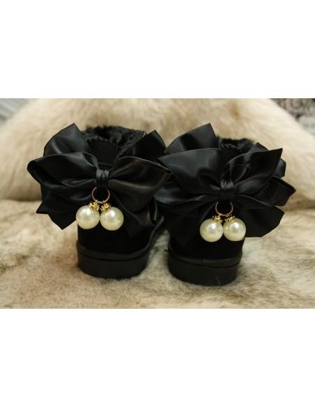 Bottine perle noire