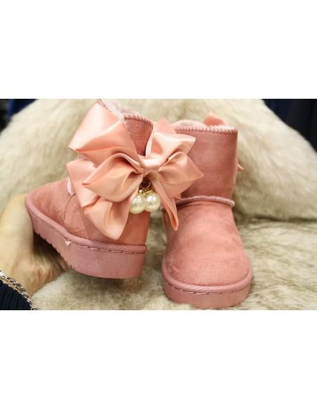 Bottes perle rose