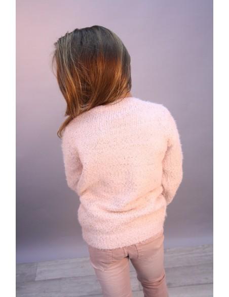 Pull Etoile Perle Rose 713 Fille 4 à 14 ans