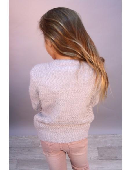 Pull Etoile Perle Gris 713 Fille 4 à 14 ans