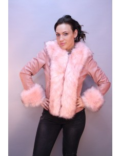 Veste Fourrure Rose 17031RS
